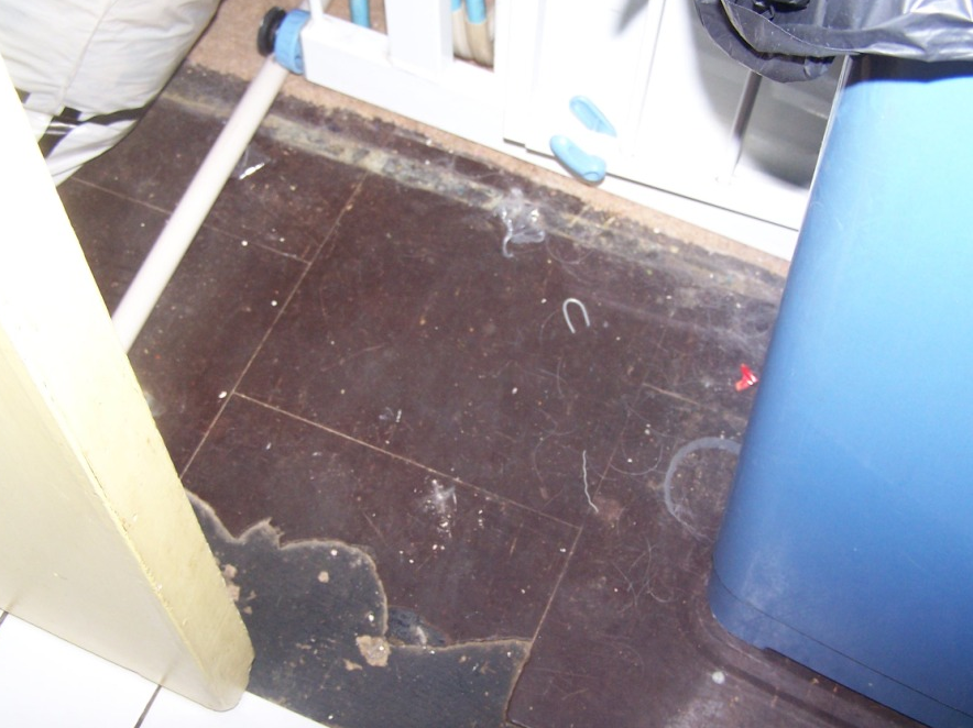 asbestos containing sheet flooring